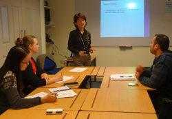 Warnborough College classroom - tutorial in session