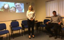 Anna and Norman make a presentation