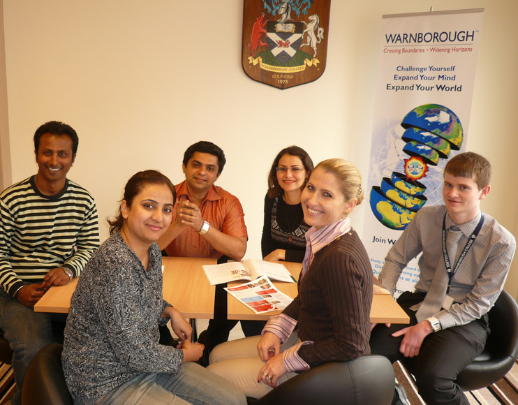 Students at Warnborough College